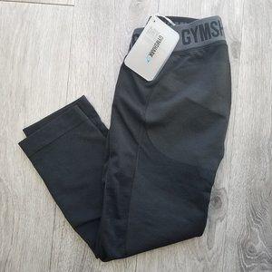NWT GYMSHARK Flex Crop   Black Marl   Size M